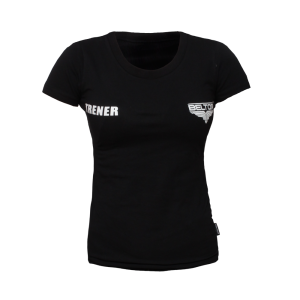 "BELTOR BW T-SHIRT LADIES SLIM ""TRENER""  czarny/black"