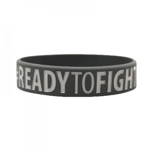 Opaska silikonowa (Wristband) Ready to win Ready to fight - Beltor®