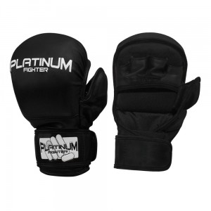 Rękawice MMA/Grapplingowe Fist Czarne Platinum Fighter