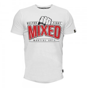 T-shirt Mixed Martial Arts kolor Biały Beltor