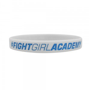 Opaska silikonowa (Wristband) slim Fight Girl Academy - Beltor®