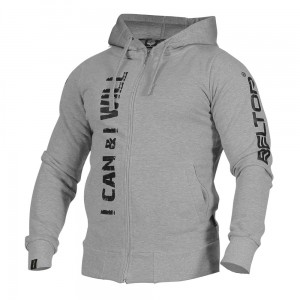 "Bluza Zip Hoodie ""I Can & I Will melange Beltor®"