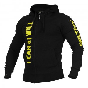 "Bluza Zip Hoodie ""I Can & I Will black Beltor®"